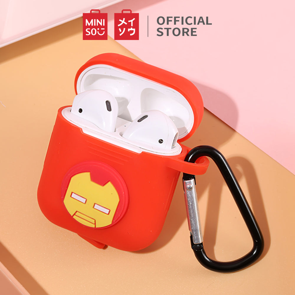 MINISO x Marvel - Silicone Airpods Case (Airpods 1 & 2) - Iron Man