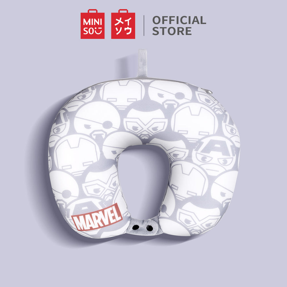 Load image into Gallery viewer, MINISO Avengers 2in1 U-shaped Pillow for Travelling Napping Resting