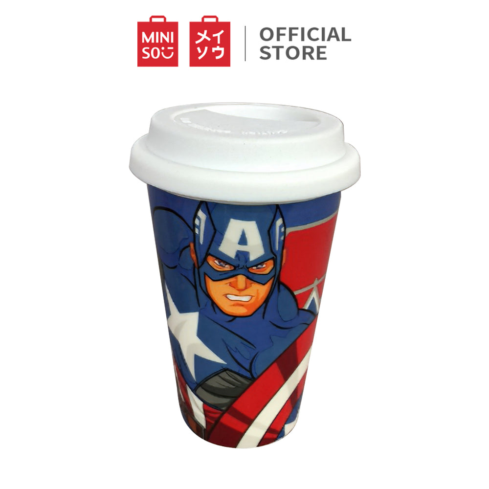 MINISO x Marvel - Double Wall Insulated Coffee Mug Tumbler with Lid 9.47oz