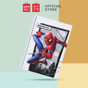 MINISO x Marvel - Cartoon Notebook Wirebound Book 70 Sheets, Large