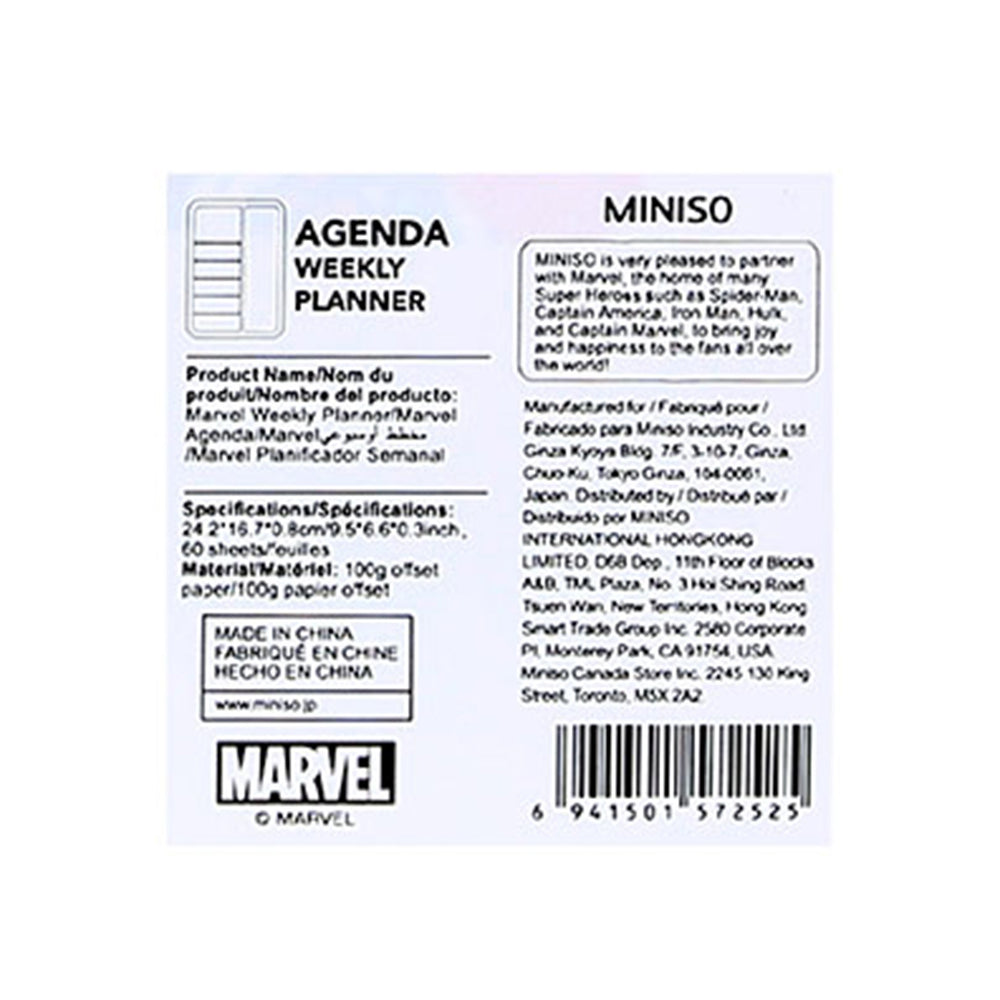 MINISO x Marvel - Weekly Planner Sticky Notes Set