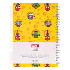 MINISO x Marvel - Wirebound Book A5 Memo Book with Tabs, 60 Sheets