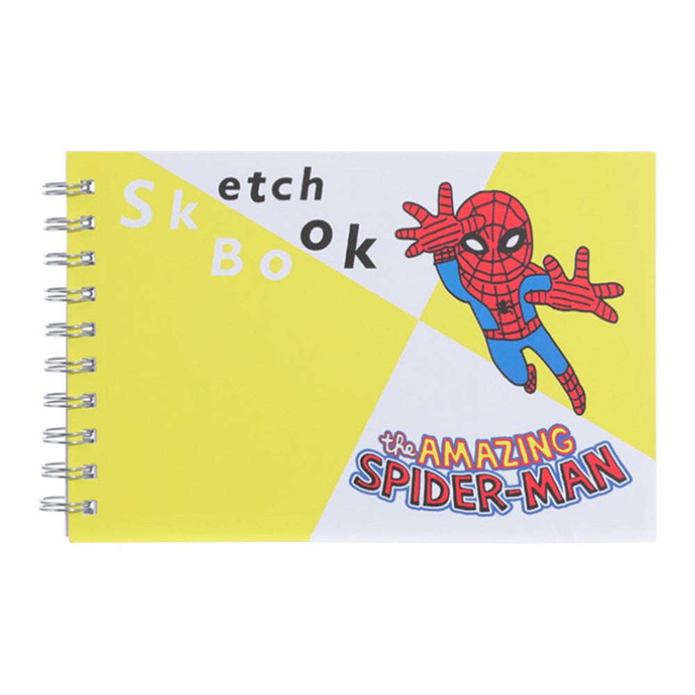 MINISO x Marvel - Sketch Book, Journal Writing Pad, Blue, Spiderman