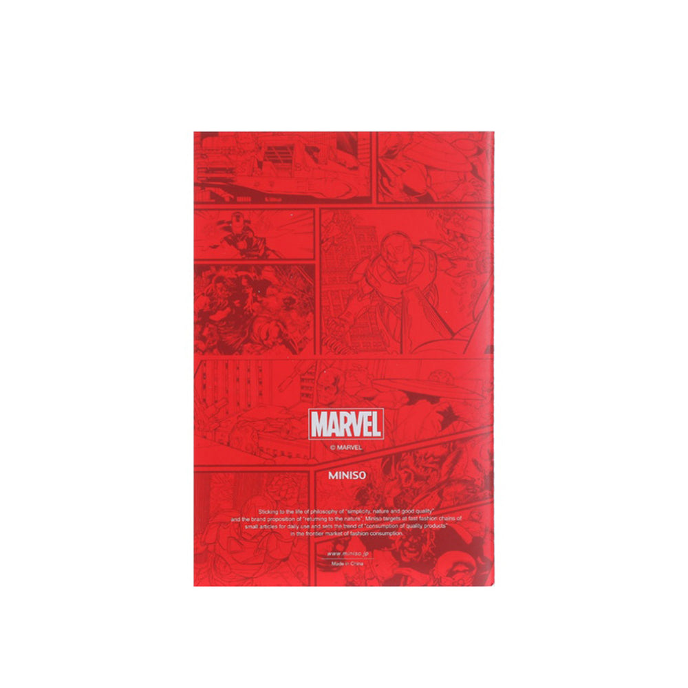 MINISO x Marvel - Small Stitch Bound Memo Book 32 Sheets - Marvel Logo
