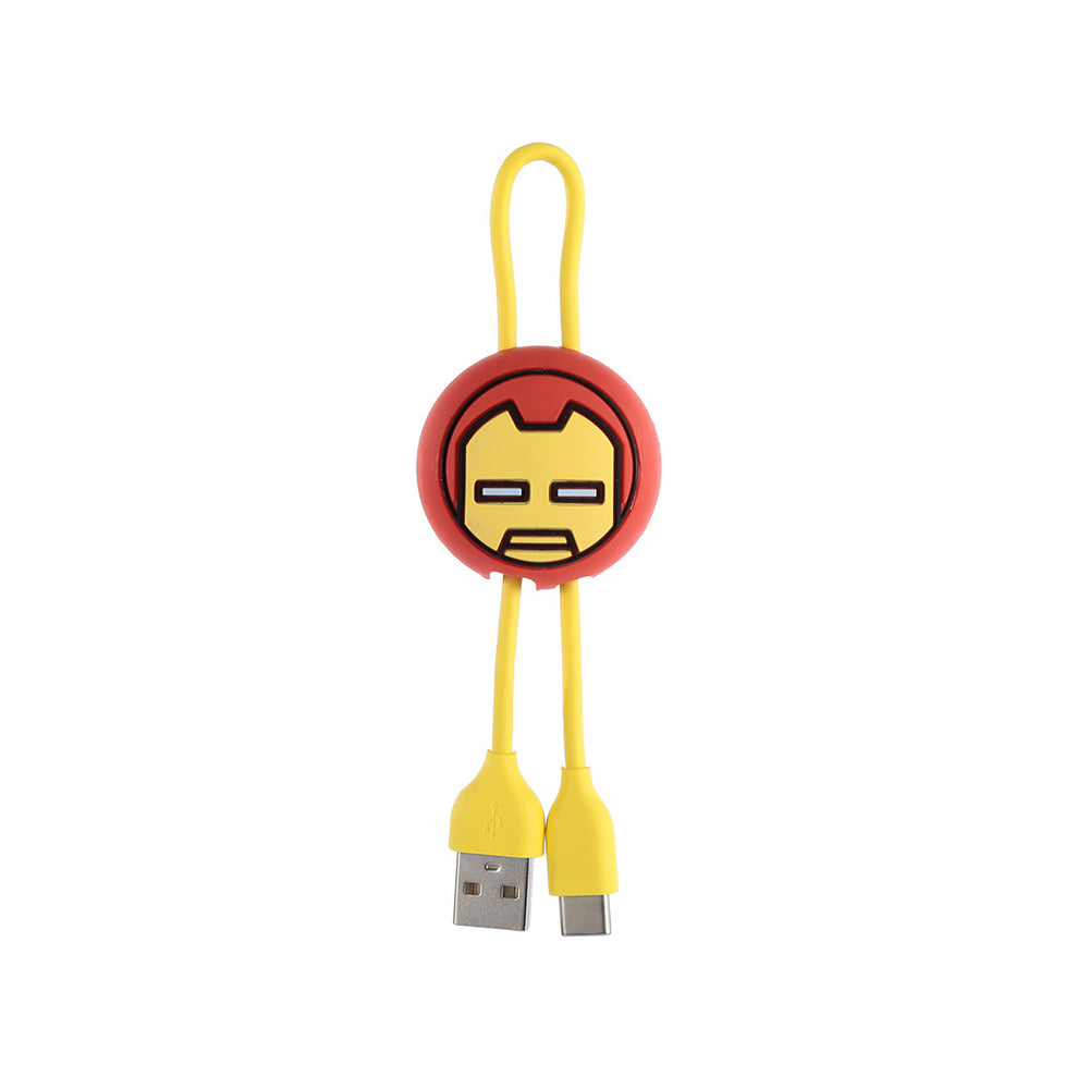 MINISO x Marvel - Type-C Cable with Double Pull - Iron Man
