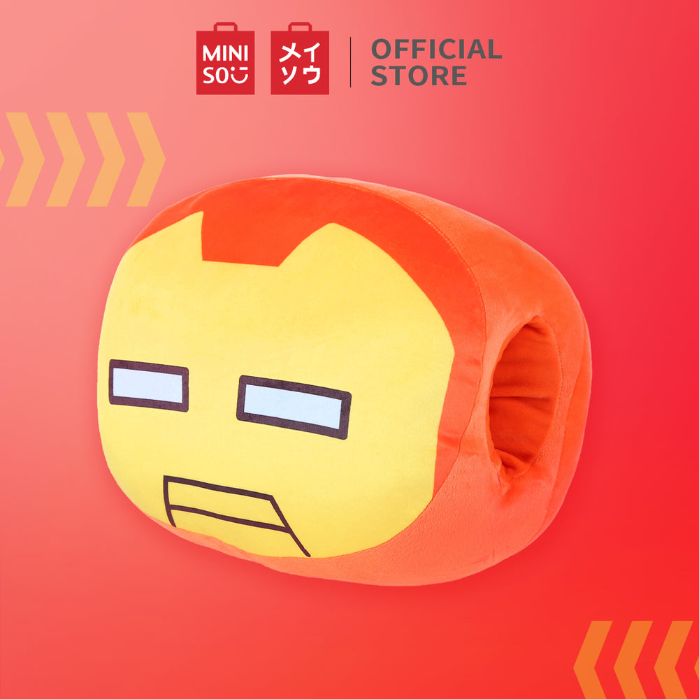 MINISO Marvel Colored Decorative Cotton Cushion with Hand Holder, Iron Man