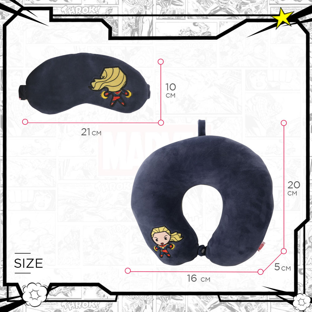 Load image into Gallery viewer, MINISO MARVEL U-shaped Neck Pillow & Eye Mask