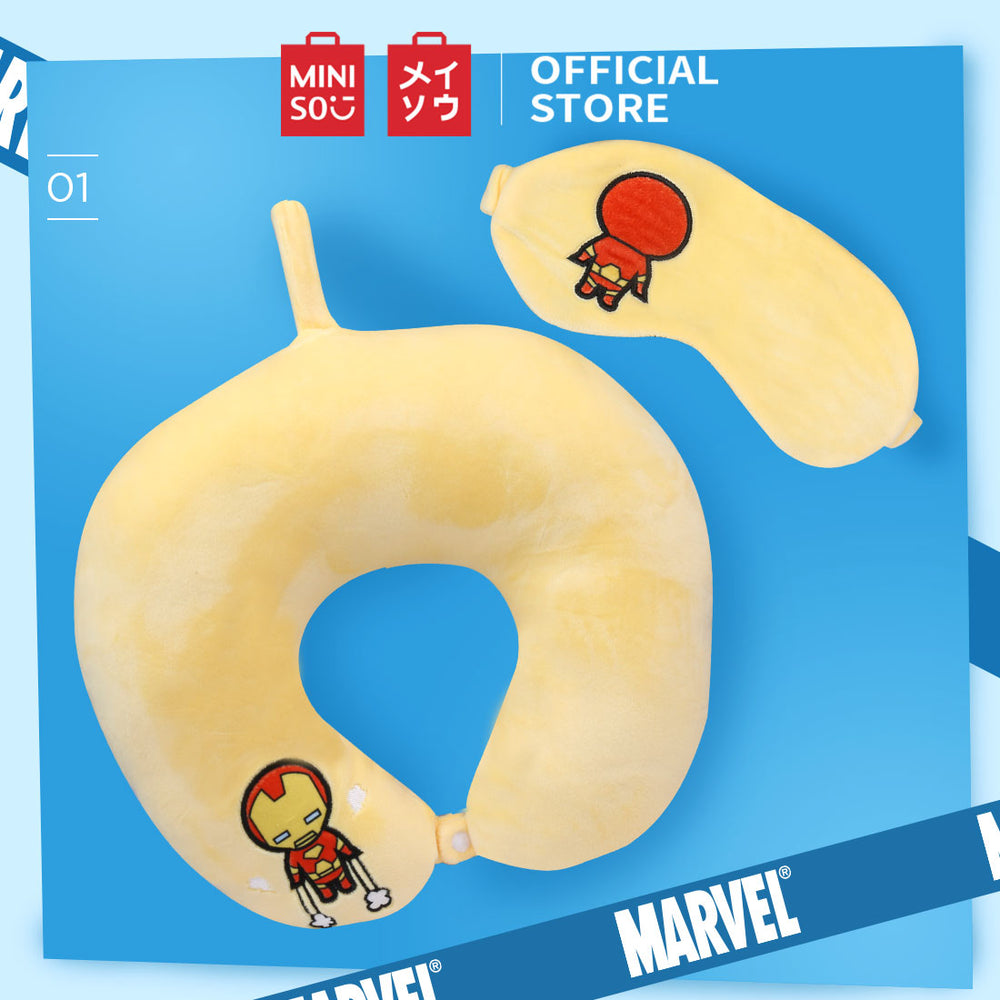 MINISO x MARVEL - U-shaped Neck Pillow & Sleeping Eye Mask