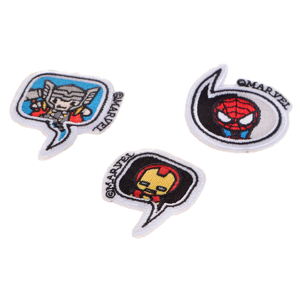 MINISO x Marvel - 3 Pieces Avengers Sew On Embroidered Patch B, Random Colour