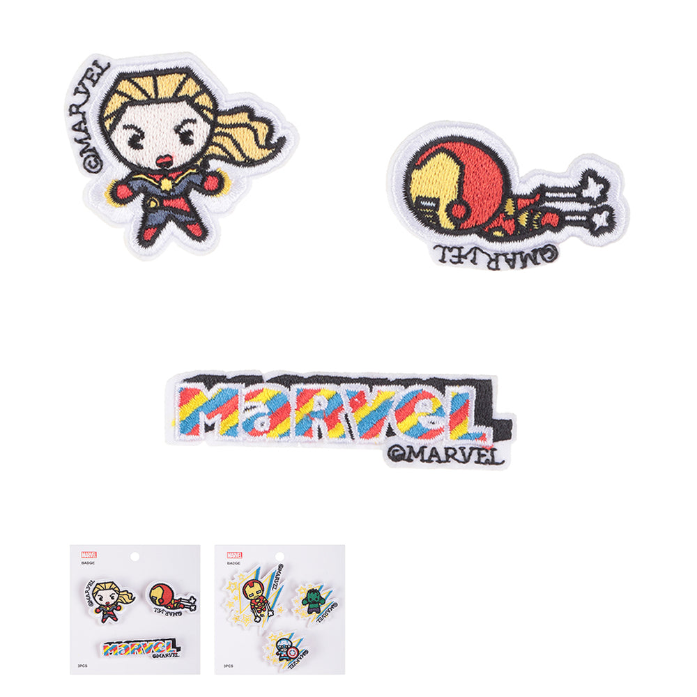 MINISO x Marvel - 3 Pieces Avengers Sew On Embroidered Patch C, Random Colour