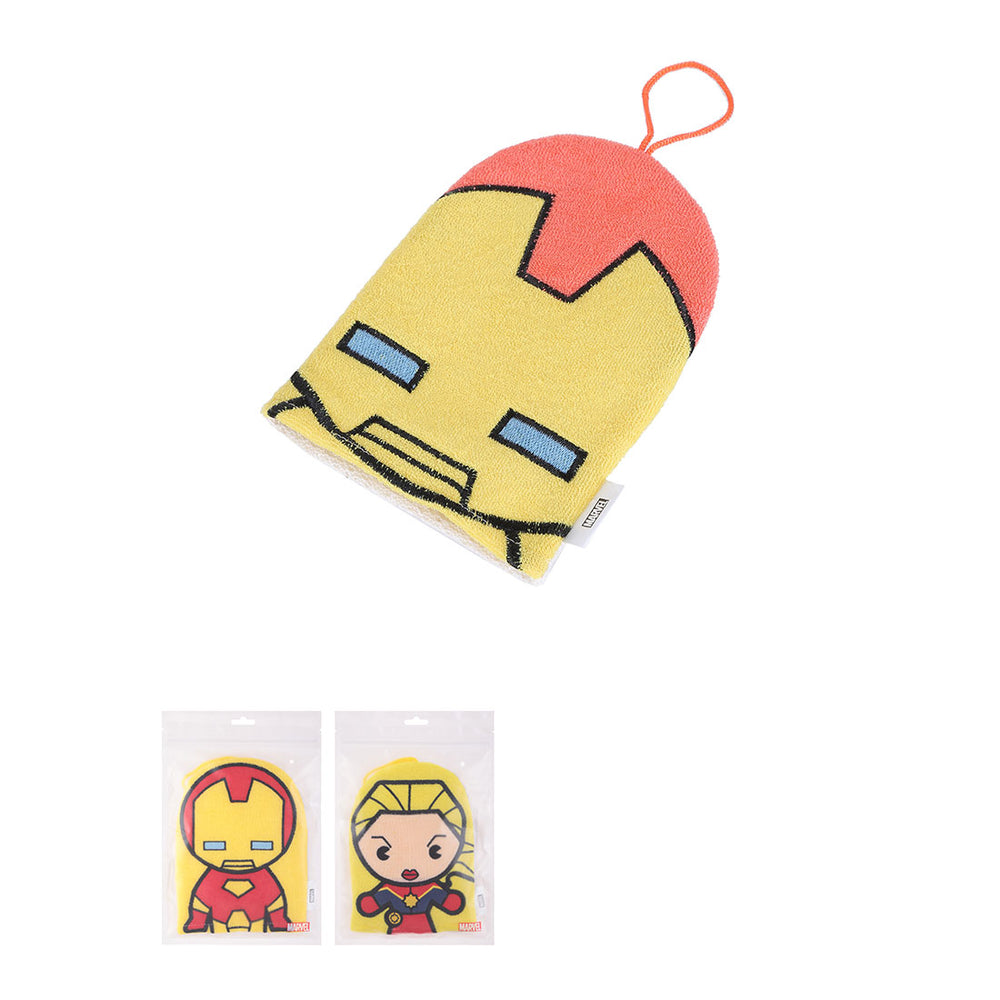 MINISO x Marvel - Exfoliating Bath Gloves, Iron Man and Captain Marvel, Random Color