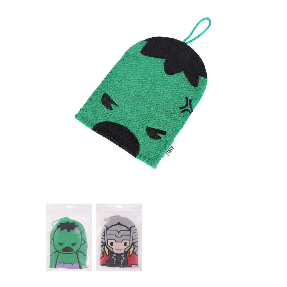 MINISO x Marvel - Exfoliating Bath Gloves, Thor and Hulk, Random Color