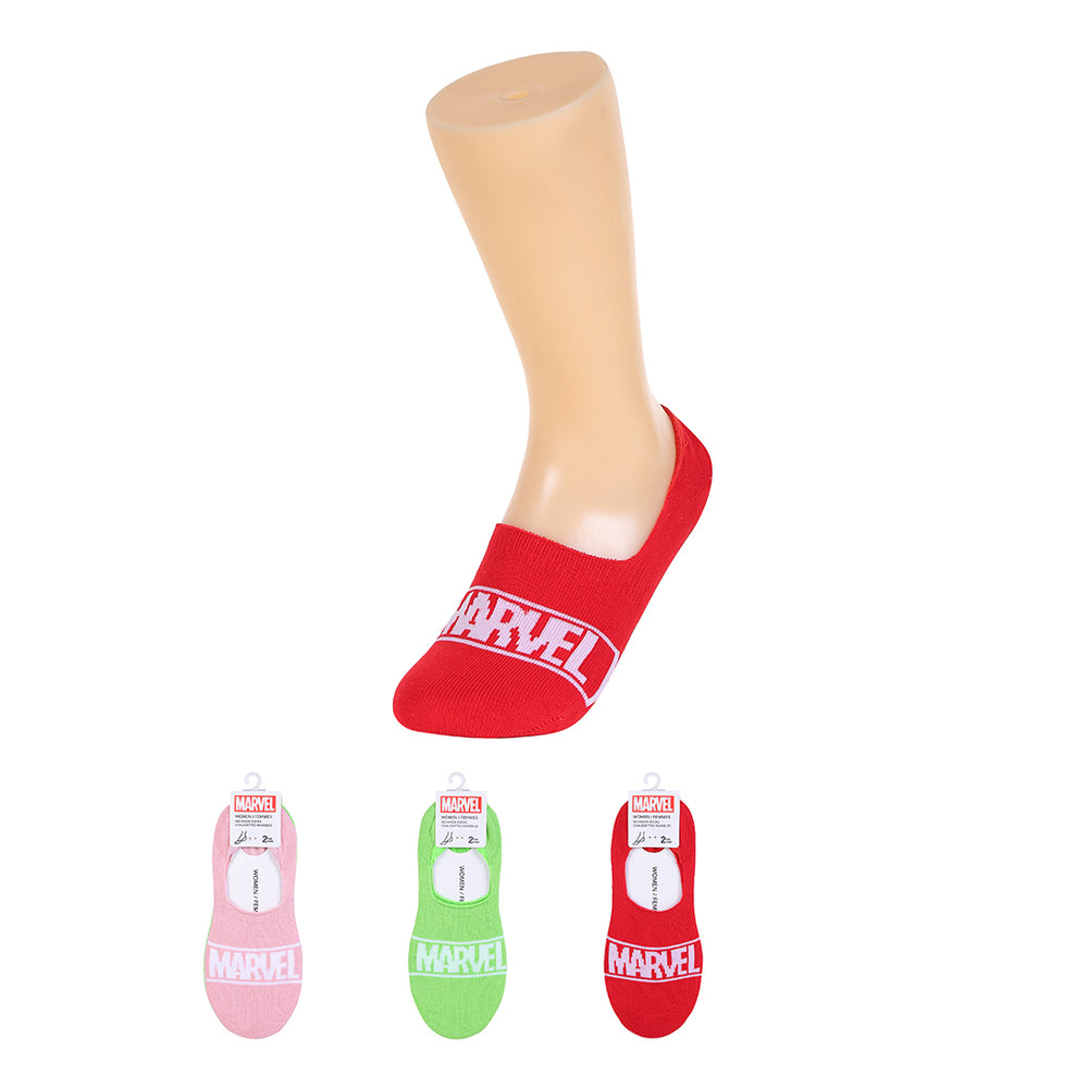 MINISO x Marvel - Womens Cotton Liners No Show Socks - 2 Pack, Random Color