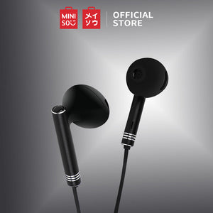 MINISO Wire Control In-ear Earphones with Mic (Black)