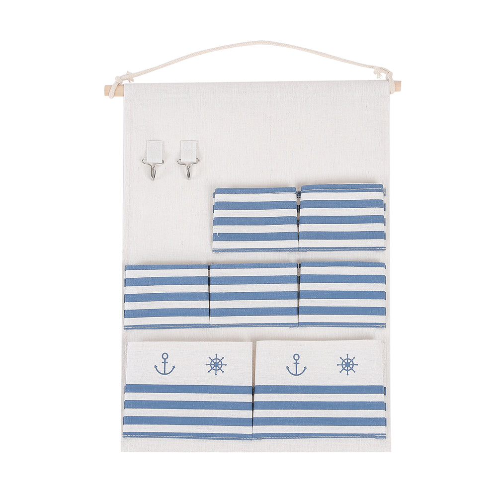 Load image into Gallery viewer, MINISO Sailor Pattern 7-section Hanging Multipurpose Organizer