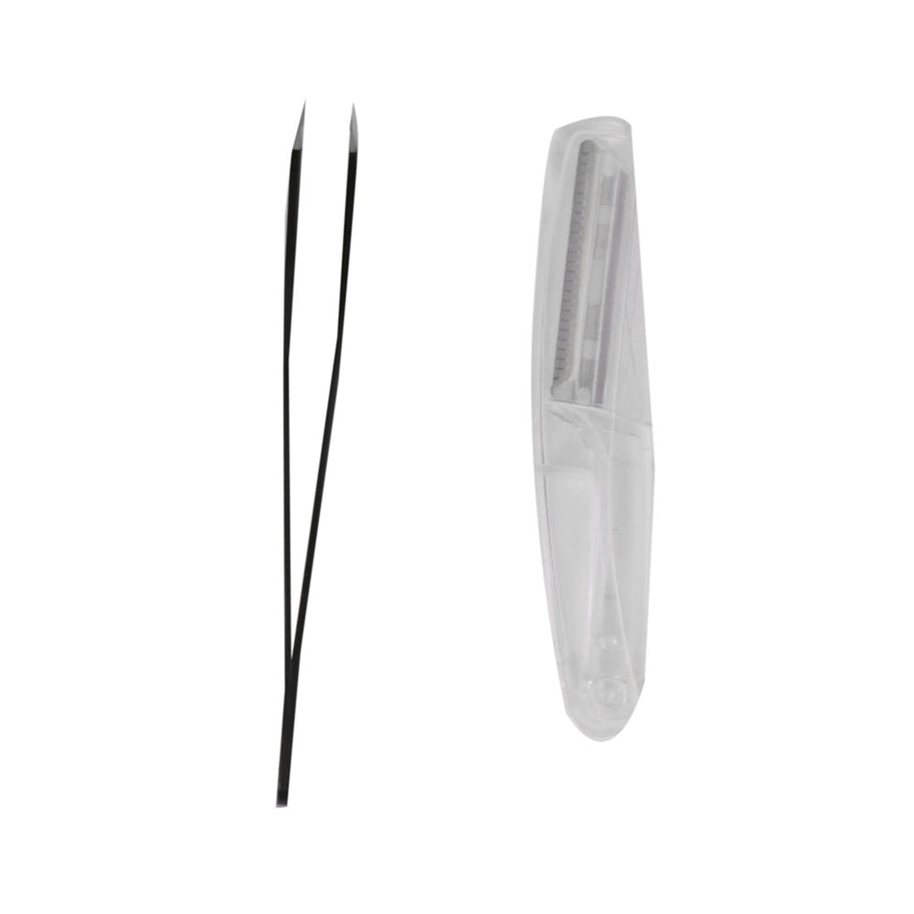 MINISO Compact Eyebrow Trimming Kit (Pack of 2), Black & Transparent