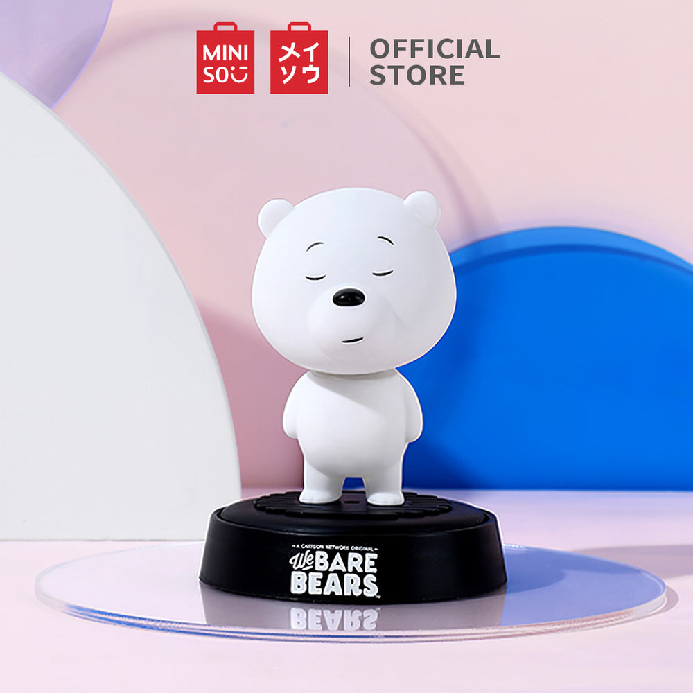 MINISO x We Bare Bears - Shaking Head Car Air Freshener (Ocean Scent)