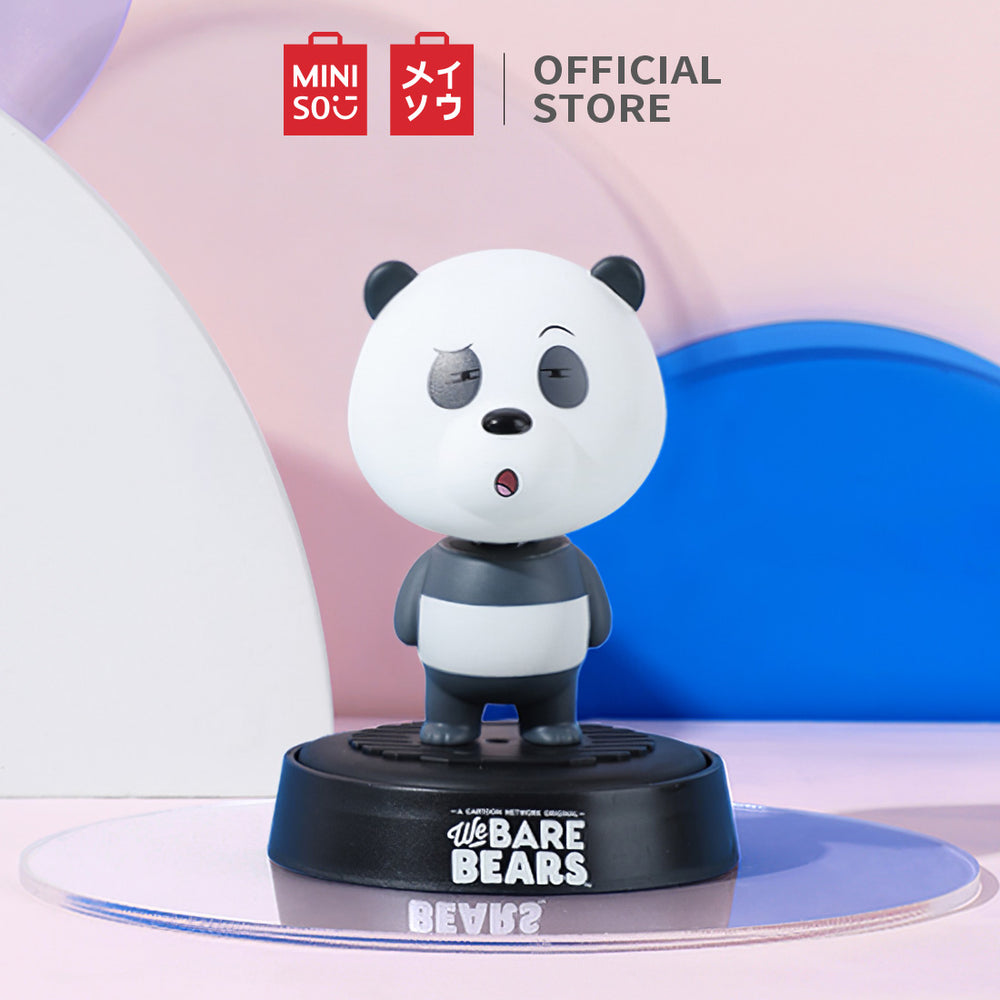 MINISO x We Bare Bears - Shaking Head Car Air Freshener (Oriental Peach Scent)