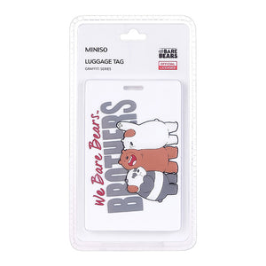 MINISO x We Bare Bears - Graffiti Series Luggage Tag, Random Colour