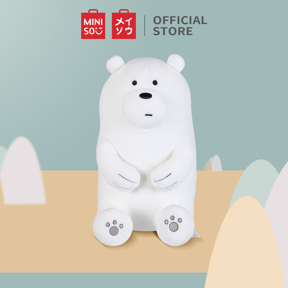 MINISO x We Bare Bears - Lovely Sitting Plush Toy - Ice Bear