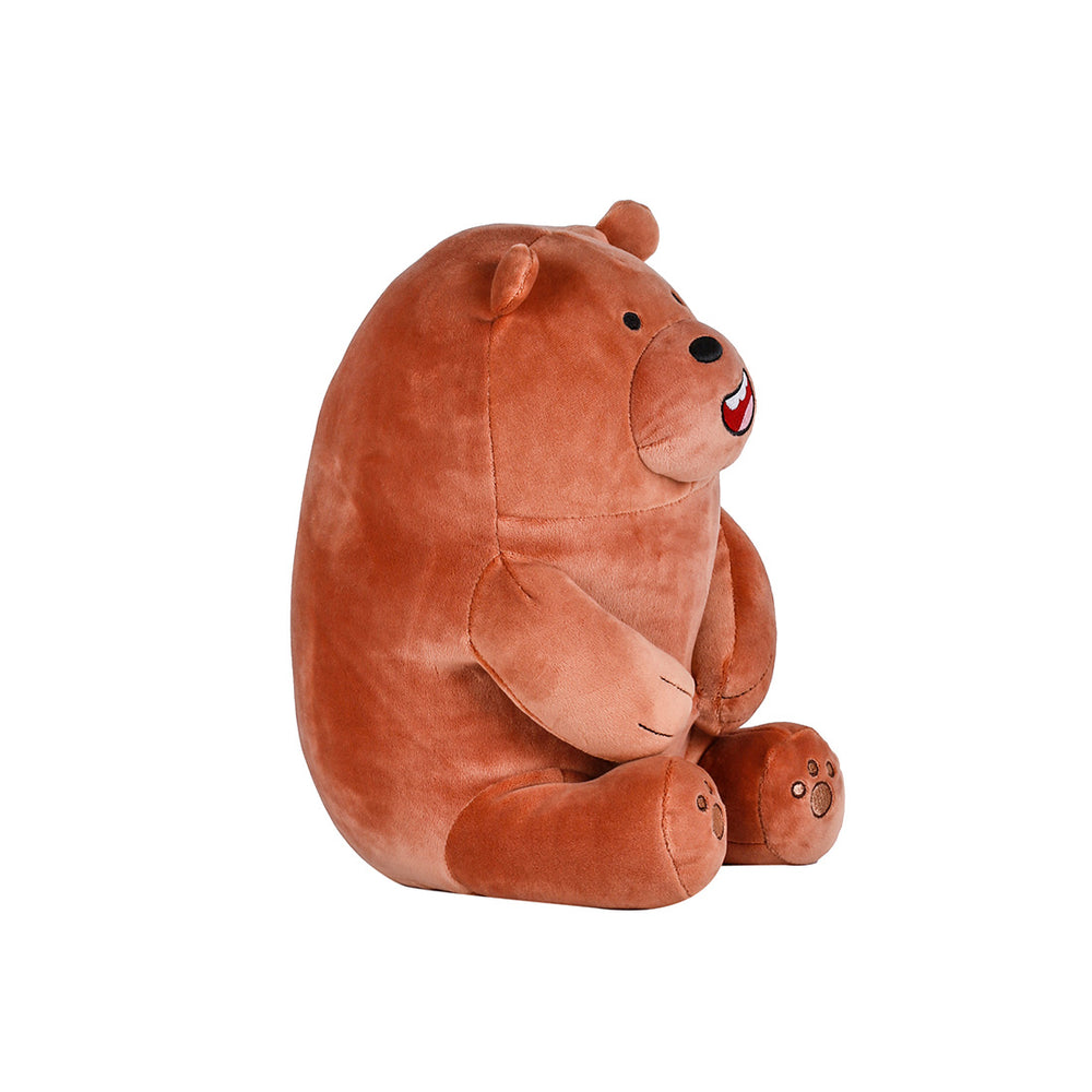 MINISO x We Bare Bears - Lovely Sitting Plushie, Grizz (Brown)