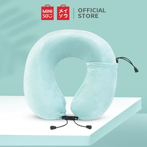MINISO Foldable U-Shaped Neck Pillow, Mint Green