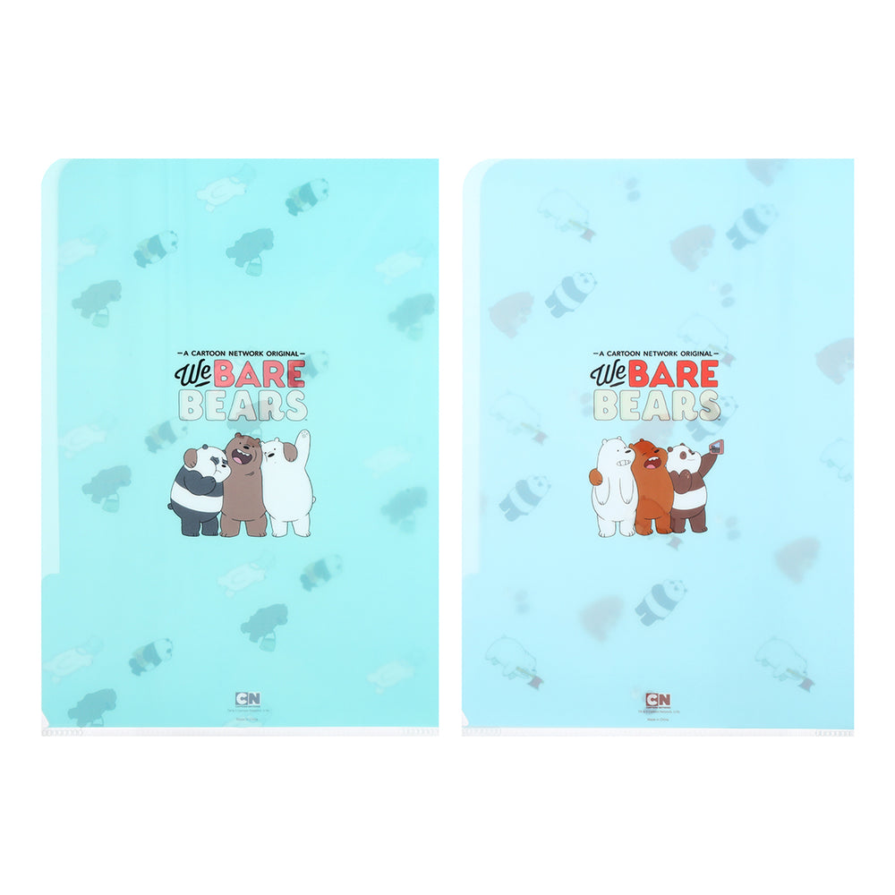 Load image into Gallery viewer, MINISO x We Bare Bears PP Folder fits A4, 2 Packs