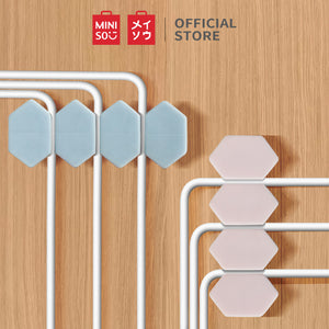 MINISO Colourful Hexagonal Cable Organizer / 2 Pack (Blue + Pink)