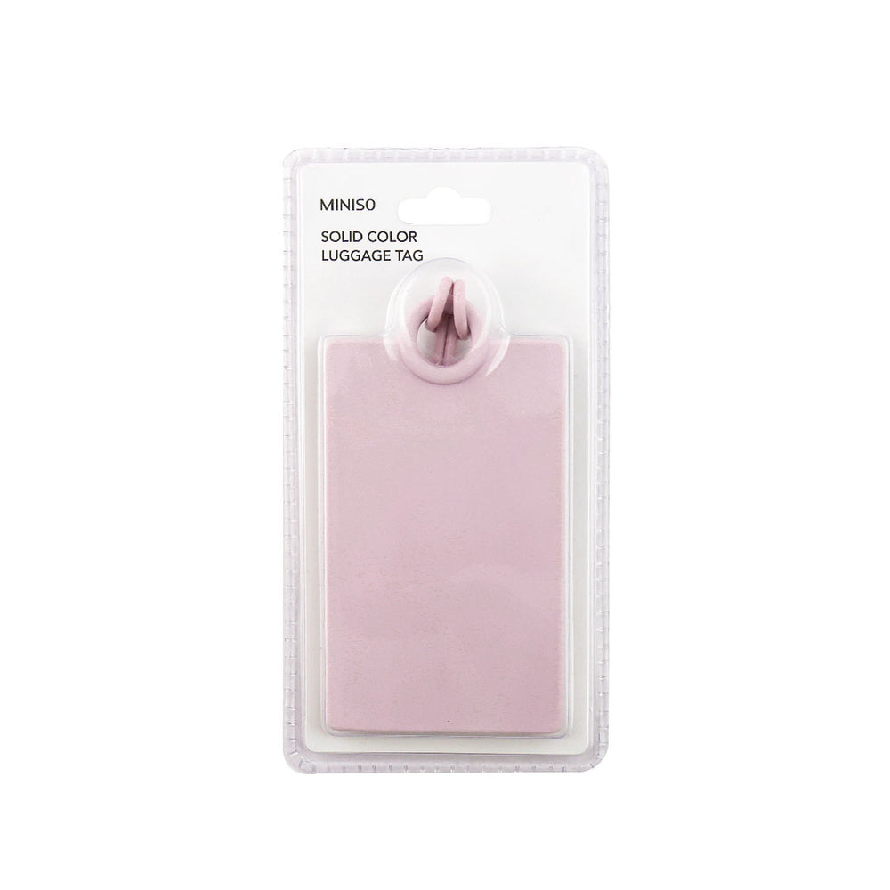 MINISO Solid Color Silicone Luggage Tag, Purple