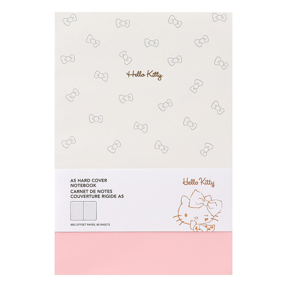 MINISO x Sanrio - Hello Kitty A5 Hard Cover Notebook, White