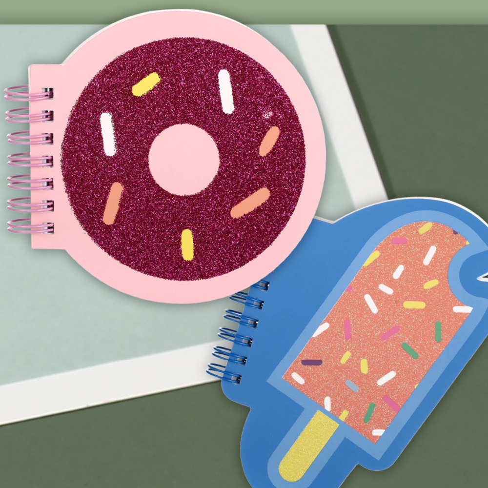 MINISO Candy Rainbow Series - Sprinkle Donut & Ice Cream Wirebound Book
