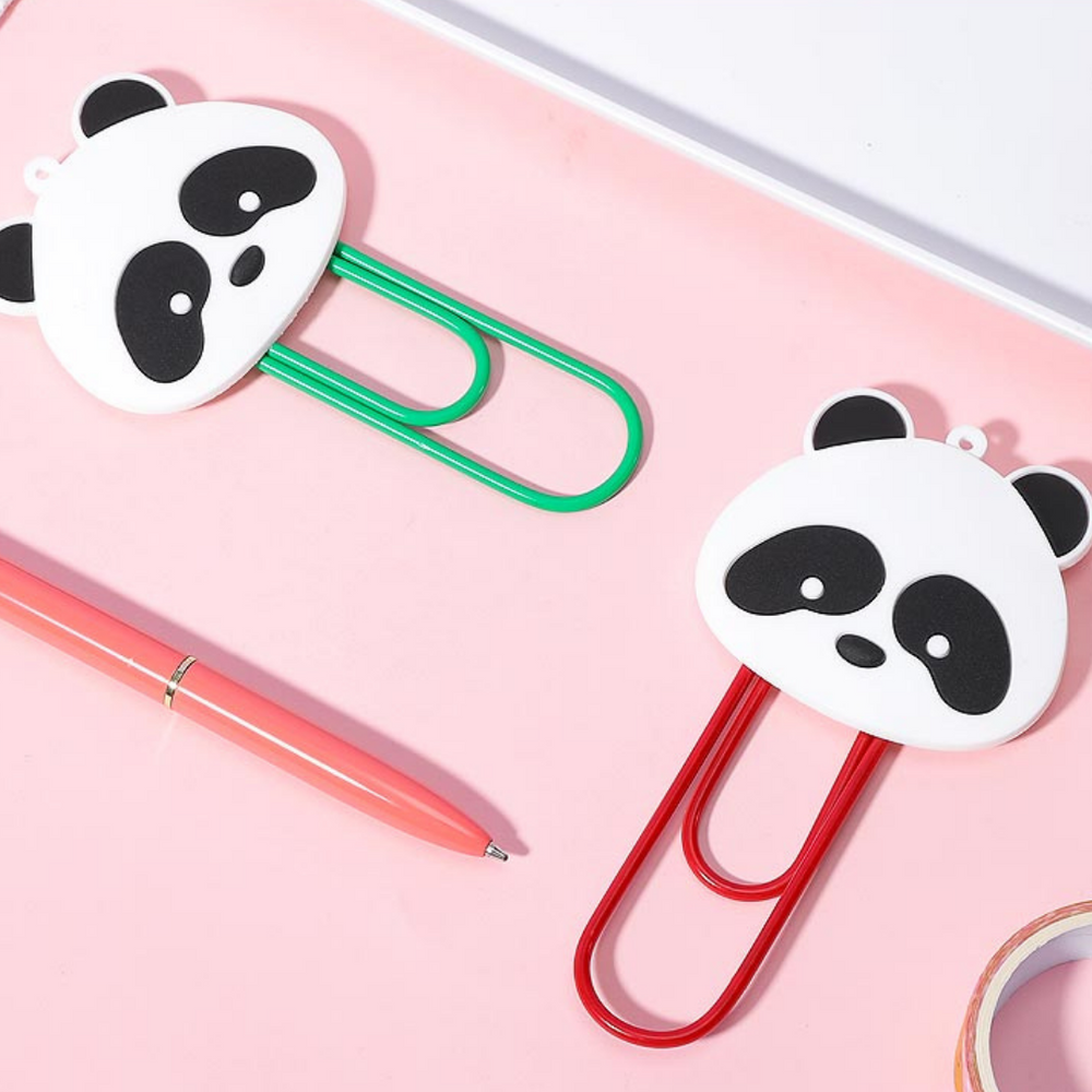 Load image into Gallery viewer, MNISO Adorable Panda Paper Memo Clips, 1PC