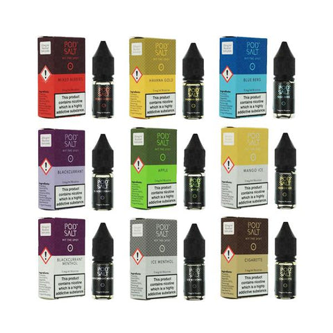 11mg Pod Salt - Flavoured 10ml Nicotine Salt (50VG/50PG) - vaperstore.co.uk