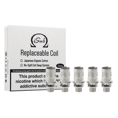 Innokin iSub Coil - 0.2/0.5/1.0/1.2/2.0 Ohm - vaperstore.co.uk