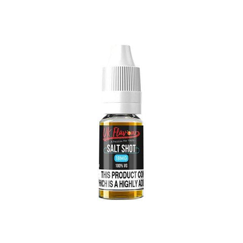 UK Flavour Nic Salt Shot 18mg 10ml (100VG) - vaperstore.co.uk