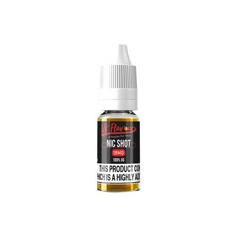 UK Flavour Nic Shot 18mg 10ml (100VG) - vape store
