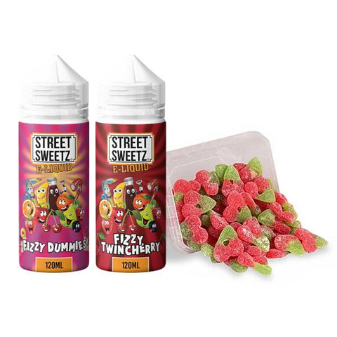 Street Sweetz 0mg 100ml Shortfill + 210g Jelly Sweets Combo - vaperstore.co.uk