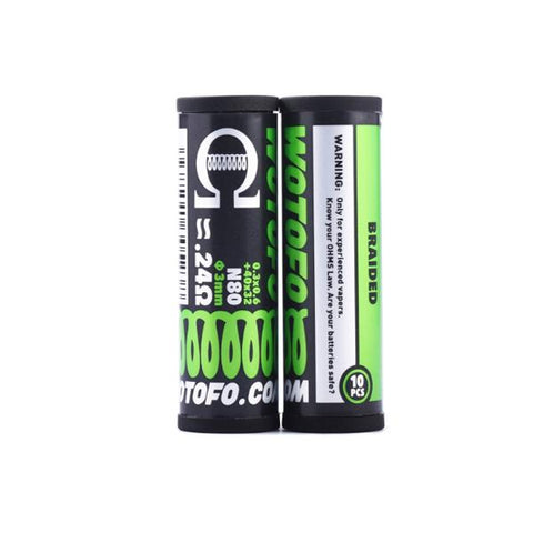Wotofo Pre-Built Coils  0.24 Ohm Braided - vaperstore.co.uk