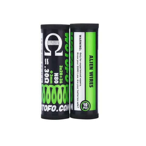 Wotofo Pre-Built Coils 0.30 Ohm Alien Wire - vaperstore.co.uk