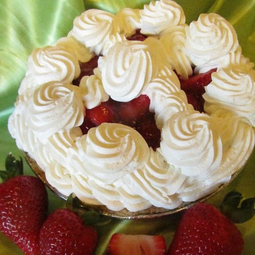 fresh strawberry pie whipped cream