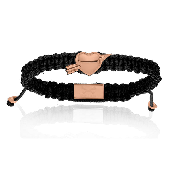 Heart with Black Nylon Bracelet