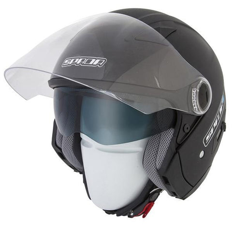 Spada Helmet Duo Matt Black - Midwest Moto Shop