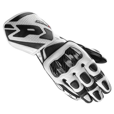 Spidi IT Carbo 1 Leather Gloves-Black/White Special Order