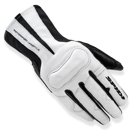 Spidi IT Charm Lady Leather Gloves-Black/White-Special Order