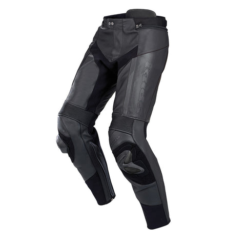Spidi RR Pro Pants Leather Trousers-Black/Black