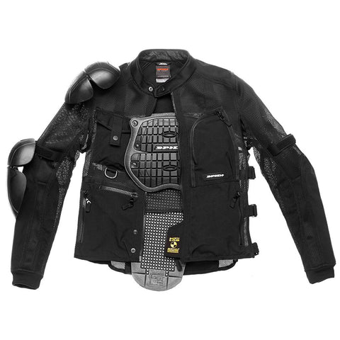 Spidi GB Tex Tech Multitech Amour Evo JKT-Blk - Midwest Moto Shop