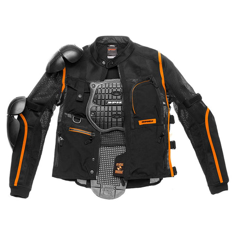 Spidi GB Tex Tech Multitech Amour Evo JKT-Blk/Org - Midwest Moto Shop