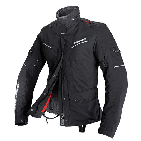 Spidi H2OUT Venture Lady WP Jacket-Black - Midwest Moto Shop