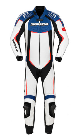 Spidi Track Wind Pro Leather Suit-Blue