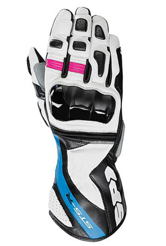 Spidi STS-R Lady Leather Gloves-White/Blue